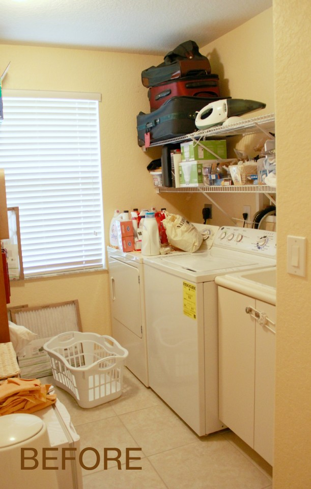 Client Project - Laundry Room Organization