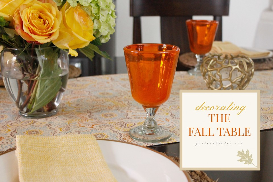 Decorating the Fall Table FB