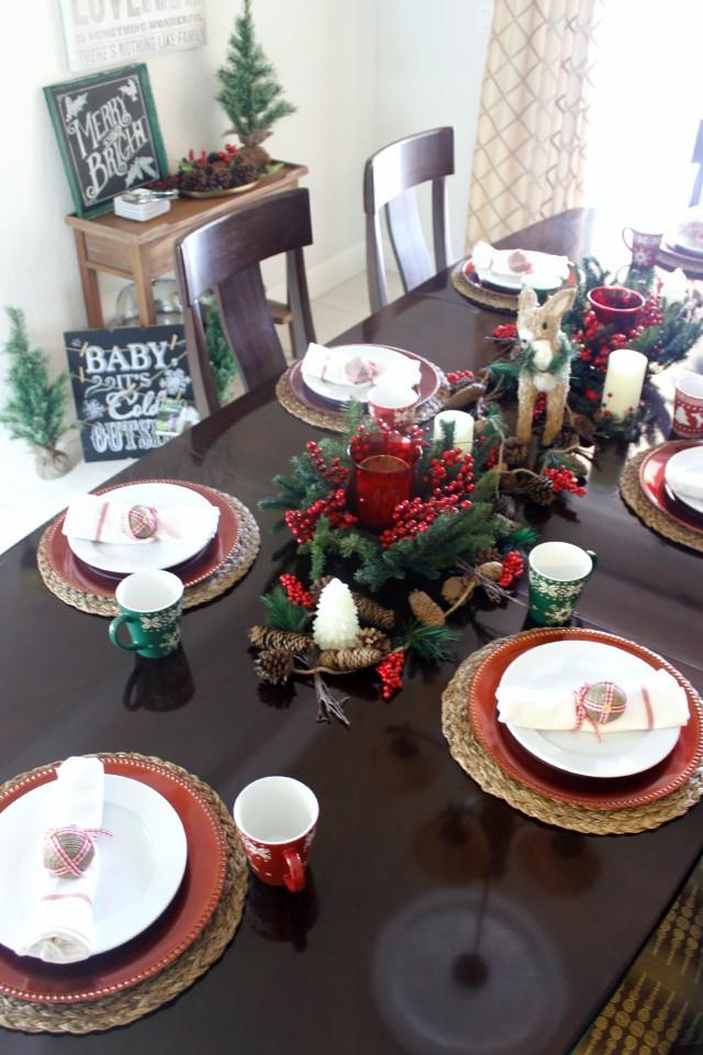 Christmas Woodland Dining Room