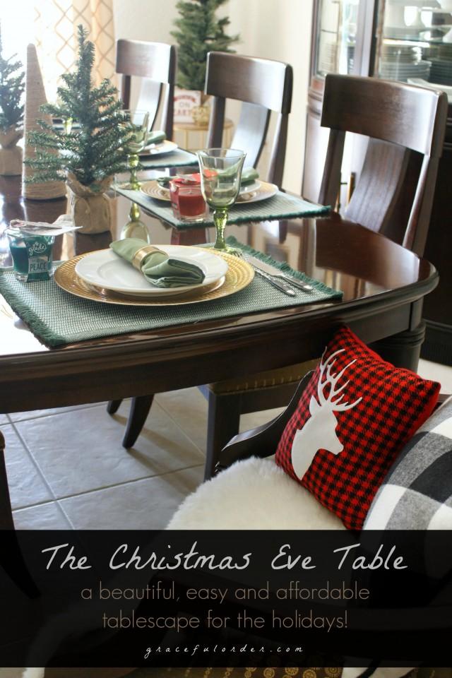 Christmas Eve Tablescape