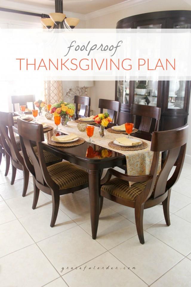 Foolproof Thanksgiving Plan